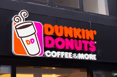 Dunkin' donuts sign Stock Photography
