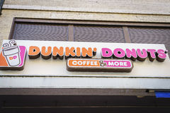 Dunkin Donuts store in Switzerland royalty free stock image