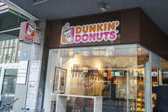 Dunkin Donuts in Switzerland stock image
