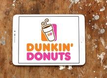 Dunkin donutslogo arkivfoton