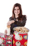 Dunking cookie Royalty Free Stock Photos