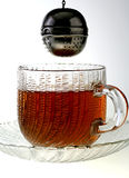dunking tea Arkivbilder