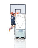Dunking to the hoop Stock Photos