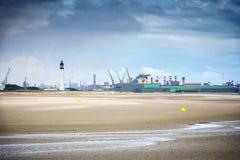 Dunkirk den breda stranden som är berömd för Frankrike bästa bekant för den brittiska evakueringen under världskriget II Nord Pas Royaltyfria Foton