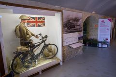 The Dunkirk Museum 1940 exhibits the Battle of Dunkirk. DUNKIRK, FRANCE – june 1, 2015 : in Dunkirk Museum 1940, Scale models of the sites of the operation Stock Image
