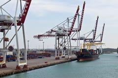 DUNKIRK/FRANCE - April 17, 2014: Port of Dunkirk (Grand Port Mar Royalty Free Stock Image