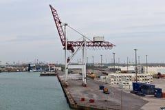 DUNKIRK/FRANCE - 17 aprile 2014: Porto di Dunkerque (grande porto marzo Fotografia Stock