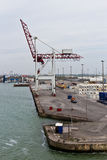 DUNKIRK/FRANCE - 17 avril 2014 : Port de Dunkerque (port grand mars Photographie stock libre de droits