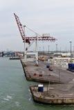 DUNKIRK/FRANCE - 17 de abril de 2014: Porto de Dunkirk (porto grande março Fotografia de Stock Royalty Free