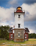 The Dunkirk Lighthouse. The Classic Dunkirk Lighthouse Overlooking Lake Erie At Dunkirk New York, USA, A Veterans Museum And Haunted Lighthouse Featuring Ghost Royalty Free Stock Photo