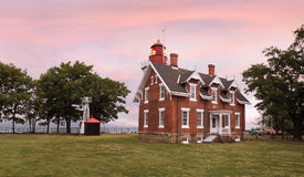 The Dunkirk Lighthouse. The Classic Dunkirk Lighthouse Overlooking Lake Erie At Dunkirk New York, USA, A Veterans Museum And Haunted Lighthouse Featuring Ghost Stock Image