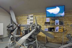 The Dunkirk Museum 1940 exhibits the Battle of Dunkirk. DUNKIRK, FRANCE – june 1, 2015 : in Dunkirk Museum 1940, Scale models of the sites of the operation Royalty Free Stock Photography