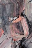 Dunkle abstrakte Acrylmalerei Lizenzfreies Stockfoto