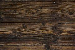 Dunkle alte Holztischbeschaffenheit stockfotos