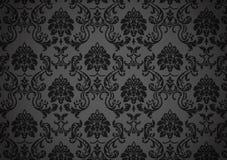 Dunkle barocke Tapete Stockfotografie