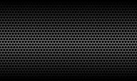 Dunkle Bienenwaben-metallischer Kohlenstoff-Beschaffenheits-Hintergrund lizenzfreie abbildung