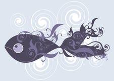 Dunkle dekorative Fische Lizenzfreies Stockfoto