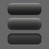 Dunkle Farbe des strukturierten Knopfes in drei Positionen Stockfotografie