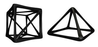 Dunkle Formen der Zusammenfassungs-3D Stockbild