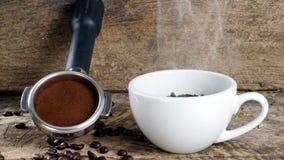 Dunkle gebratene Kaffeebohnen Lizenzfreies Stockfoto