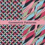 Dunkle geometrische ptterns Stockfoto