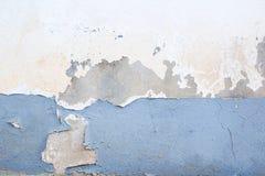 Dunkle Gips-Wand mit schmutzigem weißem Hintergrund Stockbilder