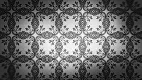 Dunkle Gray Decorative Floral Ornament Background-Muster-Entwurfs-Schablone lizenzfreie abbildung