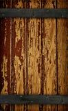 Dunkle hölzerne Stall-Tür lizenzfreies stockbild