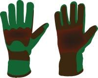 Dunkle Handschuharbeit Stockbilder