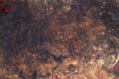 Dunkle Holzoberfläche mit Kratzern Lizenzfreie Stockfotografie