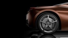 Dunkle Illustration des Autoschattenbildes 3D lizenzfreie abbildung
