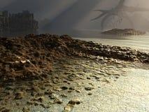 Dunkle Landschaft stock abbildung