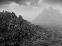 Dunkle Landschaft lizenzfreie abbildung