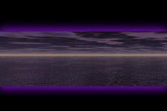 Dunkle Landschaftsfahne Lizenzfreies Stockfoto