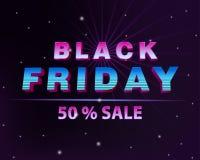 Dunkle Netzfahne für schwarzen Freitag-Verkauf Stockfotos