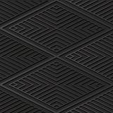 dunkle Papierkunst 3D Diamond Check Cross Vortex Frame-Linie lizenzfreie abbildung
