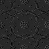 dunkle Papierkunst 3D Kurve Dot Line Frame Flower lizenzfreie abbildung