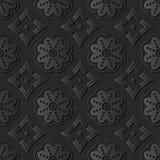 dunkle Papierkunst 3D runde Kurve Dot Line Flower Frame stock abbildung