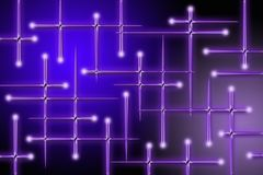 Dunkle purpurrote Zeilen der Leuchten Stockbild