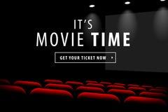 Dunkle Schirmansicht des Kinos Lizenzfreies Stockbild