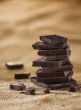 Dunkle Schokolade stockfotos