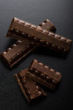 Dunkle Schokolade 50 Prozent Kakao Stockbilder