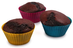 Dunkle Schokoladen-Muffins Lizenzfreies Stockbild