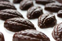 Dunkle Schokoladen-Pralinen lizenzfreies stockfoto