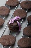 Dunkle Schokoladenkekse Lizenzfreie Stockfotos