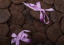 Dunkle Schokoladenkekse Lizenzfreie Stockbilder