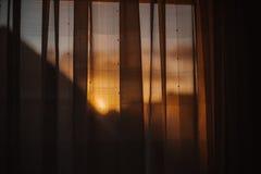 Dunkle schwermütige Sonnenuntergang instagram Art lizenzfreie stockfotografie