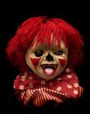 Dunkle Serie - gespenstischer Clown Lizenzfreie Stockbilder
