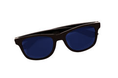Dunkle Sonnenbrille lokalisiert Stockfoto