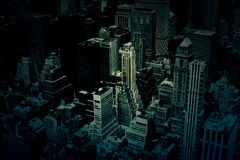 Dunkle Stadt-Gebäude-Hintergrund-Beschaffenheit Lizenzfreies Stockbild